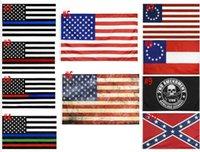 العلم الأمريكي 90 سنتيمتر X150 سنتيمتر موظف إنفاذ القانون قانون التعديل الثاني شرطة الولايات المتحدة غرامة الخط الأزرق الأمريكي بيتسي روس العلم WWA201