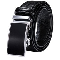 Belts Designer Black Real Leather Mens Alloy Automatic Buckles Men Belt Ratchet Waistband Straps For Dress Jeans Business Work