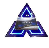Pour Mitsubishi 5D LED Car Logo Logo Emblem 12V Sticker Sticker Signal Signal Badge Blanc Rouge Bleu Auto Accessoires Taille 76x87mm