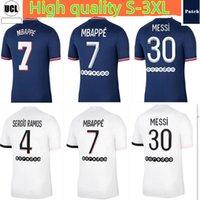 Erkekler Futbol Forması 21 22 MBappe Messi Futbol Gömlek 2021 2022 Sergio Ramos Verratti Üniformaları