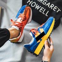 N Lettere 327 Serie 327 Series Scarpe da corsa Accoppiamenti Blu Arancione Grigio Designer di alta qualità Uomo Donne Donne Trainer all'aperto Scarpe da ginnastica EUR Dimensione 36-45,5 ms327Lab