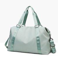 LU-203, el, yoga çantası, kadın, ıslak, su geçirmez, büyük, bagaj çantası, kısa seyahat çantası 50 * 28 * 22 marka logosu ile yüksek kalite