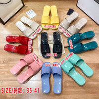 2021 Women High Heels Sexy Slippers Candy Colors Rubber Soli...