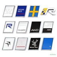 3D Métal R Design AWD Moose Test Logo Emblème Badge Stickers Autocollant de voitures pour Volvo Ocean V40 V90 V90 XC60 XC90 XC40 S60 S90 S80 C30