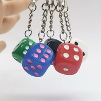 Keychains Creative Dice Keychain Pendant Simulation Toy For Women Bag Charm Trinket Men Car Key Ring Chain Jewelry