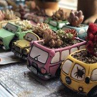 Newretro yaratıcı araba saksı mini bahçe yetiştiricilerinin bitki etli ekici masa saksı kaktüs bitki pot ev dekorasyon EWB7749