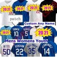 Neue 2020 Männer Frauen Kinder Baseball Cody Bellinger Justin Turner Clayton Kershaw Walker Bühler Mookie Betts Enrique Hernandez Trikots