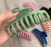 Solid Big Hair Claws Elegant Frosted Acrylic Hair Clips Hairpins Barrette Headwear for Women Girls Hair Accessories