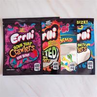 Errlli Gummy Candy Sac 600mg de la fermeture de fermeture à glissière pour enfant de 600 mg Emballage à glissière EDIBLES MyLar Sacs Beauheads Jolly Rancher Grossiste