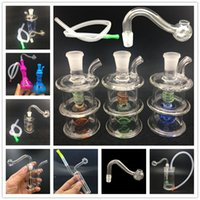 8 Style mix dab rigs bong LED light Glass Bubbler Bong Ash Catcher Smoking Water Pipes Oil Rigs Dab Rig with 10mm oil bowls