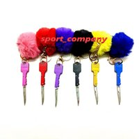 패션 키 체인 세트 7 색 여성 자기 방어 키 체인 나이프 미니 접이식 나이프 열쇠 고리 다기능 키 체인 나이프 야외 긴급 도구