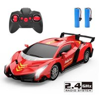1:18 Remote Control Car 2. 4G RC Toy Cars Electric Model Vehicle LED Light ABS Plastic Kids Birthday Toys Boys Christmas Gift Q0726