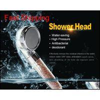 욕실 샤워 헤드 부스터 ABS 플라스틱 스파 음이온 샤워 헤드 물 절약형 핸드 헬드 고압 비 샤워 QYLIDF TOYS2010