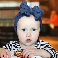 Cute Solid Color Cotton Blend Baby Turban Bowkont Hat Newborn Beanie Cap Headwear Infant Toddler Hat Birthday Gift Photo Props