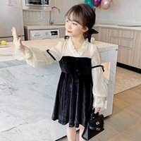 Spring New Fashion Children Dress 2021 Costomes Long Sleeve ...