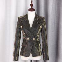 S-XXL Hohe Qualität Neue Modefarbe Streifen Ändern Gewebe Dünne Langarmknopf Temperament Slim Pendler Frau Blazer