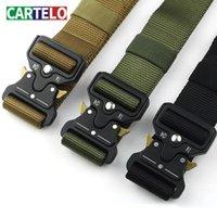 Cartelo Erkek Marka Askeri Taktik Kemer Özellikle Militaryalar için Tasarlanmış Metal Toka Ayarlanabilir Kemer Ücretsiz Kargo