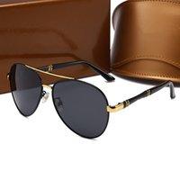 Nouvelle édition Sunglasses Hommes Femmes Métal Sunglasses Vintage Square Square Square Square Sans UV 400 Lentille Original Box and Case