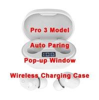 Air Gen 2/3 Fones de ouvido Renomear GPS Pro Pop Up Janela Bluetooth Fone de Ouvido Auto Paring Sem Fio Caixa de carregamento sem fio Esportes Earbuds Dropship