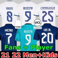 Maillots REAL MADRID 21 22 maillot de football ALABA HAZARD BENZEMA ASENSIO MODRIC MARCELO camiseta hommes + kit enfants 2021 2022 CASEMIRO KROOS ISCO VINI JR.