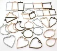 Hot Arts Artigianato Home Aperto Casandro Pendenti Ciondoli Charms Stampi in resina per risultati dei monili FAI DA TE PREMIATO FLOWER Frame assortito Geometrico Vassoio