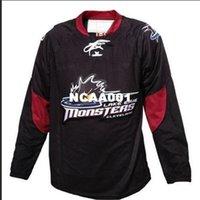 Real 668 Real Bordado Completo Personalizar AHL Cleveland Lago Erie Monstros Hóquei Jersey ou Personalizado Qualquer Nome ou Número