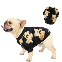 Dog Apparel Pet clothes autumn and winter new bipedal thickened plush cotton-padded jacket bear printing T2I52969