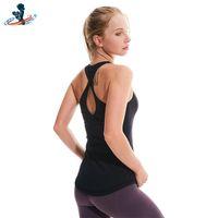 Yoga Outfit Deepscence Workout Roupas Top Mangas Sem Mangas Camisas Atléticas Estiramento Mulheres Terno Solto Vest Gym Sports para Fitness