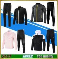 2021 Adulto Cinza Treinamento Terno Rosa Futebol Futebol Sobrevetimento Jaqueta de Futebol 20 21 Preto Cabeça Competos Polo Camiseta