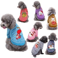 Winter Cartoon Halloween Dog Apparel Pets Clothes Warm Christmas Sweater For Small Yorkie Pet Clothing Coat Knitting Crochet Cloth XS-2XL