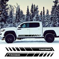 2 ADET Oto Her İki Yan Çıkartmaları Araba Stil Kapı Yan Etek Grafik Vinil Şeril Stifters Toyota Tacoma Yarış Dış Aksesuarlar için