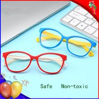 السلامة مكافحة الزرقاء راي نظارات الاطفال حجب الإشعاع نظارات الألعاب الكمبيوتر للأولاد الفتيات UV400 حماية النظارات الأطفال
