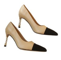 Women's stylish sexy heels Ladies dress shoes sandals leather women stiletto heel spring and autumn pointed toe height With box35-40
