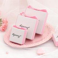 선물 랩 바구니 쥬얼리 반지 귀걸이 시계 목걸이 저장 상자 내부 스폰지 카톤 선물 결혼식 포장 컨테이너