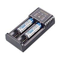 Ampere Power AP-M02 ذكي 2a شاحن بطارية سريع مع إخراج USB أسود شاحن USB 3.7V بطارية ليثيوم أيون