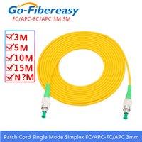 FC / APC-FC / APC Fibra ottica Cavo di patch in fibra ottica OS1 Modalità singola Simplex Fibra ottica Cavo patch PVC 3mm 3Meter FC-FC Cavo di patch in fibra di fibra APC