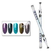 Nagelgel Blume Magnet Magische Stift für Katze Eye Polnische Doppelkopfkunst DIY 3D Magnetische UV Eye Rod
