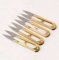 Goldfarbe Eisenschere Werkzeuge Haushalt Handy Mini Kleine Nähschere Stickerei Nähwerkzeug