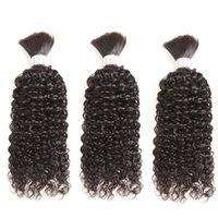 Human Hair Bulks Brazilian Bulk For Braiding Kinky Curly Remy Bundles No Weft Weaving Braids Extensions 3Bundles