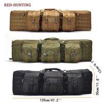 Вещи мешки 2021 тяжелые 120 см 47 '' Тактическая двойная длинная винтовочная пистолетная сумка для пистолета Сумка Sgun Case W / Blockpack Blockable