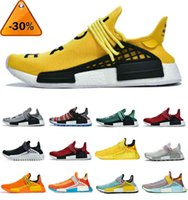 Top Quality Pharrell Williams NMD Human Race Mens Women Running Shoes Triple White BBC Solar Pack Yellow Blue Nerd Heart Mind Sports Outdoor