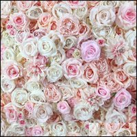 Home Garden Festive Supplies Decorative Flowers & Wreaths Spr Higher Quality 3D Rose Peony Wall With Jewellery Wedding Backdrop Party Artifi