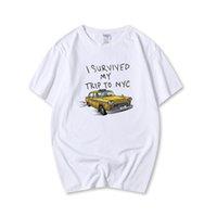 Topesko Fashion Summer T-shirts Tom Holland Tees j'ai survécu à mon voyage à NYC Coton Casual T-shirts drôles XS-3XL