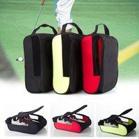 أحذية الجولف أكياس انغلق المنظم تنفس المحمولة لتجهيز الرياضة السفر لوازم التخزين الأحذية حماية حقيبة 34x23x14 سنتيمتر L0302