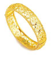 Bracelets d'or 24k pour femmes designer bijoux charme bracelet enfants Dubaï mariée mariage bracelet éthiopien Afrique