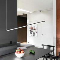 Pendant Lamps 75CM 105CM Modern Bar Lights For Living Room Dining Gold Black Acrylic Aluminum Body LED Ceiling Lamp Fixtures