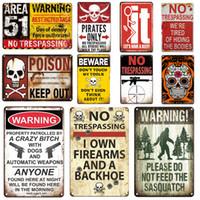2021 Vintage NO TRESPASSING Signes métalliques Méfiez-vous des plaques d'affiche murale Signe AVERTISSEMENT AVERTISSEMENT DE FALLOUT PLAQUE PLAQUE PLAQUE Panneau Ferme Décoration murale