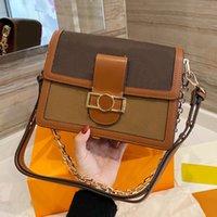 높은 Luxurys 디자이너 작은 사각형 가방 클래식 최고 품질 숙녀 1955 핸드백 여성 패션 어머니 코스크 지갑 핸드백 어깨 가방 체인 인쇄 지갑