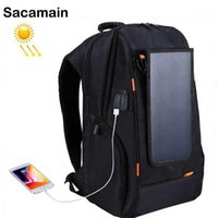 Backpack Solar Battery Power Phone Charger Panel Usb Fast Charge Large Capacity Laptop Business Travel Bag1