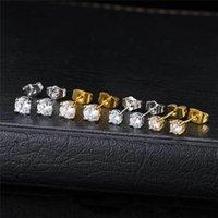 18k amarillo blanco chapado en oro brillante CZ Diamond Pendientes Pendientes para niñas mujeres lindas pendientes joyería para amigos